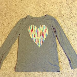 Cute fall shirt with heart